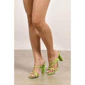 TOBI サンダル 【 Slide Through Heel Sandals 】 Neon Green Snake