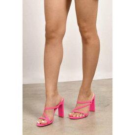 TOBI サンダル 【 Slide Through Heel Sandals 】 Neon Pink