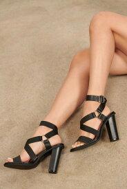 TOBI アラウンド レザー 【 Come Around Faux Leather Heels 】 Black