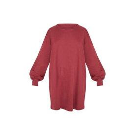 GLOBALLE ドレス レディースファッション 【 Prettylittlething Oversized Sweater Dress 】 Burgundy