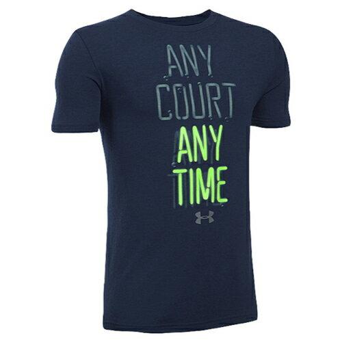 アンダーアーマー カウント タイム シャツ 男の子用 (小学生 中学生) 子供用 under armour any court time t トップス ベビー キッズ マタニティ tシャツ カットソー