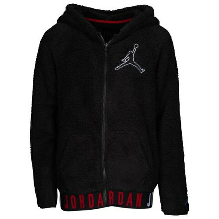 【海外限定】ジョーダン ジャンプマン gs(gradeschool) ジュニア キッズ jordan jumpman fullzip sherpa gsgradeschool