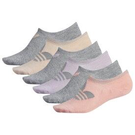 アディダス アディダスオリジナルス ADIDAS ORIGINALS オリジナルス ソックス 靴下 WOMENS レディース 6 PACK ORIGINAL NO SHOW SOCKS 下着 ナイトウエア レッグ 下 インナー 送料無料