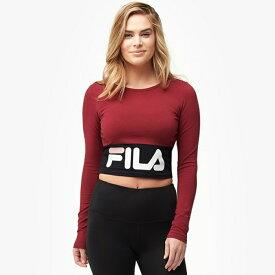 フィラ FILA スリーブ クロップ WOMENS レディース MARIA LONG SLEEVE CROP TOP トップス カットソー Tシャツ レディースファッション 送料無料