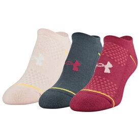 アンダーアーマー UNDER ARMOUR ソックス 靴下 WOMENS レディース PHENOM 3 PACK NO SHOW SOCKS スポーツ アウトドア アクセサリー 送料無料