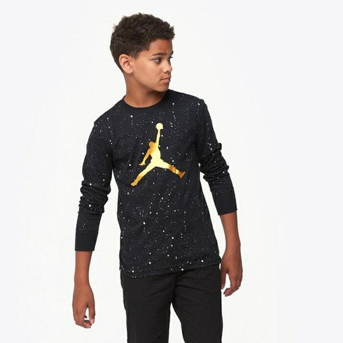 【海外限定】jordan speckle long sleeve t gsgradeschool ジョーダン スリーブ シャツ gs(gradeschool) ジュニア キッズ