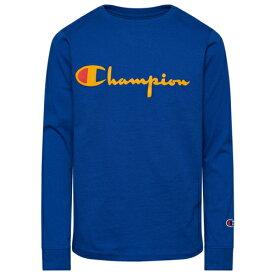 チャンピオン CHAMPION L S 長袖 ロングスリーブ スクリプト シャツ GS(GRADESCHOOL) ジュニア キッズ HERITAGE LS SCRIPT T GSGRADESCHOOL マタニティ カットソー Tシャツ トップス 送料無料