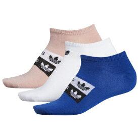 アディダス アディダスオリジナルス ADIDAS ORIGINALS オリジナルス ロゴ ソックス 靴下 WOMENS レディース 3 PACK NO SHOW STACKED LOGO SOCKS 下着 下 レッグ ナイトウエア インナー 送料無料
