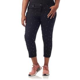 ESSENTIALS 黒 ブラック パール 【 BLACK ESSENTIALS PLUS ALL OVER PEARL JEANS 】 レディースファッション オーダーメイド ズボン パンツ