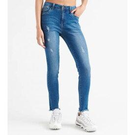 FUNKY SOUL デニム 青 ブルー 【 BLUE FUNKY SOUL HIRISE HEM DENIM JEANS MEDIUM 】 レディースファッション オーダーメイド ズボン パンツ