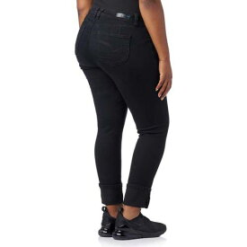 ESSENTIALS メガ 黒 ブラック 【 BLACK ESSENTIALS PLUS MEGA CUFF JEAN 】 レディースファッション オーダーメイド ズボン パンツ