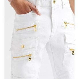 デシベル DECIBEL デシベル スキニー カーゴ 白色 ホワイト カーゴパンツ 【 DECIBEL SKINNY FIT FASHION WHITE 】 メンズファッション ズボン パンツ