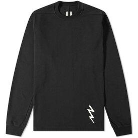 RICK OWENS ボルト & 【 LIGHTNING BOLT MOTIF SWEAT BLACK WHITE 】 メンズファッション トップス スウェット トレーナー 送料無料