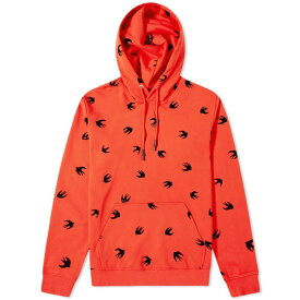 MCQ ALEXANDER MCQUEEN フーディー パーカー メンズファッション トップス メンズ 【 All Over Print Swallow Popover Hoody 】 Solar Red