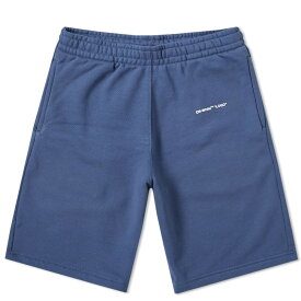 OFF-WHITE スウェット 【 SWEAT OFFWHITE SHORT NAVY 】 メンズファッション ズボン パンツ 送料無料