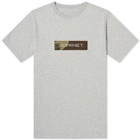 SOPHNET. ボックス ロゴ 【 CAMOUFLAGE BOX LOGO TEE GREY 】 メンズファッション トップス Tシャツ カットソー 送料無料