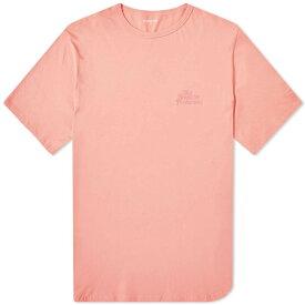 NONNATIVE スクリプト 【 TNP EMBROIDERED SCRIPT TEE PINK 】 メンズファッション トップス Tシャツ カットソー 送料無料
