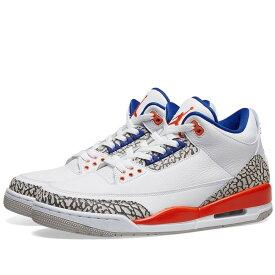 【スーパーセール中! 6/11深夜2時迄】NIKE JORDAN エア ニックス スニーカー メンズ 【 Nike Air Jordan Iii Retro Knicks 】 White, Old Royal & Orange