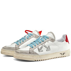 OFF-WHITE 2.0 & スニーカー 【 OFFWHITE SNEAKER WHITE RED 】 メンズ 送料無料