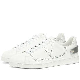 VALENTINO ネット ロゴ スニーカー メンズ 【 Net Go Logo Sneaker 】 White & Silver