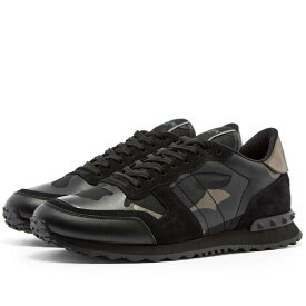 VALENTINO スニーカー メンズ 【 Rockrunner Sneaker 】 Black & Dark Rutenio