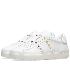 VALENTINO スニーカー メンズ 【 Rockstud Untitled Sneaker 】 White & Gold