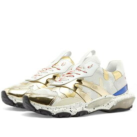 VALENTINO スニーカー メンズ 【 Metallic Camo Bounce Sneaker 】 Gold & Grey