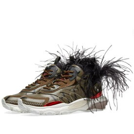 VALENTINO スニーカー 【 VALENTINO FEATHER SHOW SNEAKER CAMO 】 メンズ スニーカー