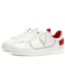 VALENTINO ネット ロゴ スニーカー メンズ 【 Net Go Logo Sneaker 】 White & Red