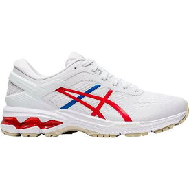 アシックス ASICS レディース WOMEN'S スニーカー 【 GEL KAYANO 26 RETRO TOKYO RUNNING SHOES WHITE RED BLUE 】 送料無料