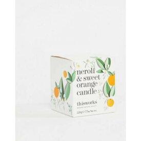 橙 オレンジ & 美容 コスメ 香水 アロマ お香 キャンドル 【 ORANGE THIS WORKS NEROLI SWEET CANDLE 220G 】