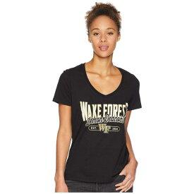 【海外限定】チャンピオン カレッジ フォレスト ブイネック Tシャツ トップス レディースファッション 【 CHAMPION COLLEGE WAKE FOREST DEMON DEACONS UNIVERSITY VNECK TEE 】【送料無料】