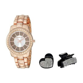 STEVE MADDEN スティーブマッデン ウォッチ 時計 【 WATCH GIRL GLITTER BAND WITH TWOPIECE HAIR SET SMGS022 ROSE GOLD 】 腕時計 レディース腕時計 送料無料