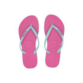 HAVAIANAS スリム ロゴ 【 SLIM LOGO POPUP FLIP FLOPS HOLLYWOOD ROSE ICE BLUE 】 送料無料