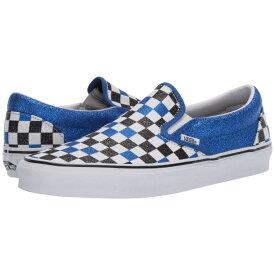 バンズ VANS クラシック Slipon™ スニーカー ユニセックス 【 Classic Slip-on™ 】 (glitter Checkerboard) Princess Blue/true White