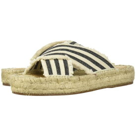 G.H. BASS & CO. 【 ANABELLE IVORY BLACK STRIPED CANVAS 】 送料無料
