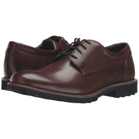 ROCKPORT メンズ ビジネススニーカー 【 Sharp And Ready Colben 】 Brown Burnished Leather