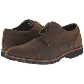 ROCKPORT メンズ ビジネススニーカー 【 Sharp And Ready Channer 】 Brown Oiled Leather
