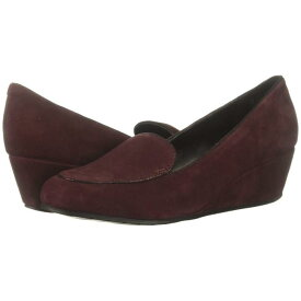 KENNETH COLE REACTION レディース 【 Tip Wedge Loafer 】 Burgundy Suede