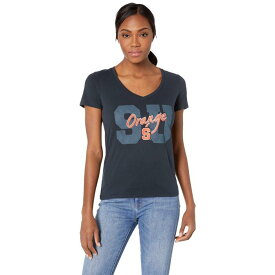CHAMPION COLLEGE シラキュース 橙 オレンジ ブイネック Tシャツ レディースファッション トップス レディース 【 Syracuse Orange University V-neck Tee 】 Navy 1