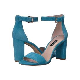 NINE WEST レディース 【 Nora Block Heeled Sandal 】 Sea Blue