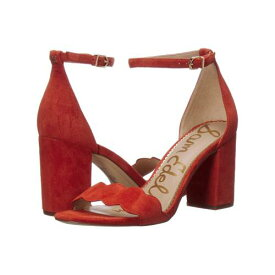 SAM EDELMAN ストラップ レディース 【 Odila Ankle Strap Sandal Heel 】 Dusty Orange Suede Leather