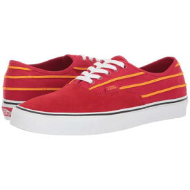 バンズ VANS Authentic™ スニーカー ユニセックス 【 Authentic™ 】 (sport Stripes) Racing Red/cadmium Yellow