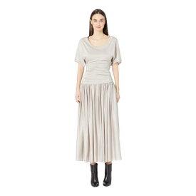 ニール バレット NEIL BARRETT ドレス 【 NEIL BARRETT FALLAWAY GATHERED DRESS GHIACCIO 】 レディースファッション ドレス