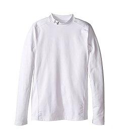 アンダーアーマー キッズ UNDER ARMOUR KIDS 白 ホワイト 銀色 スチール COLDGEAR 【 WHITE UNDER ARMOUR KIDS MOCK BIG STEEL 】 キッズ ベビー マタニティ トップス Tシャツ