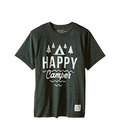 THE ORIGINAL RETRO BRAND KIDS スリーブ Tシャツ 【 SLEEVE HAPPY CAMPER SHORT TEE LITTLE BIG HEATHER FOREST 】 キッズ ベビー マタニティ トップス 送料無料