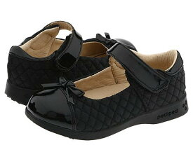 PEDIPED 【 NAOMI FLEX TODDLER LITTLE KID BLACK QUILTED FABRIC 】 キッズ ベビー マタニティ 送料無料
