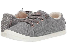ROXY スニーカー 【 BAYSHORE FAUXFUR LINED SHOES GREY 】 送料無料