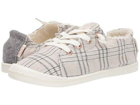 ROXY スニーカー 【 BAYSHORE FAUXFUR LINED SHOES PLAID 】 送料無料