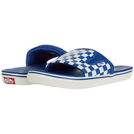 バンズ VANS バンズ 青 ブルー ULTRACUSH スニーカー 【 VANS BLUE SLIDEON CHECKERBOARD TRUE MARSHMALLOW 】 メンズ スニーカー
